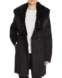 Marc New York - Sarah Asymmetric Front Faux Shearling Coat - Lyst