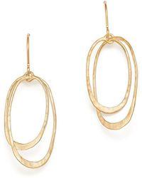 Bloomingdale's - 14k Yellow Gold Hammered Oval Orbit Earrings - Lyst