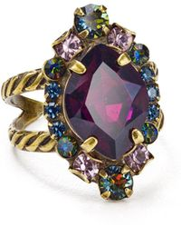 Sorrelli - Eustoma Adjustable Cocktail Ring - Lyst
