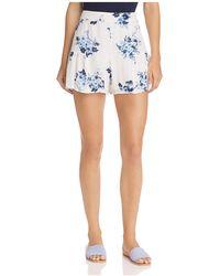 Aqua - Flounced Floral Print Shorts - Lyst