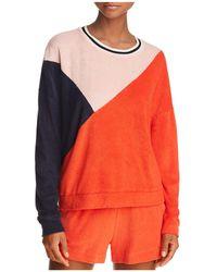 Splendid - X Margherita Color-block Terry Sweatshirt - Lyst