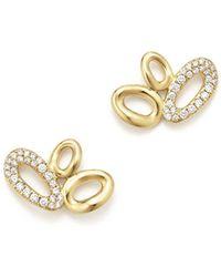 Ippolita - 18k Yellow Gold Cherish Diamond Link Cluster Earrings - Lyst