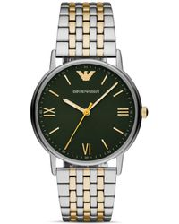 Emporio Armani - Two-tone Stainless Steel Bracelet Watch 41mm - Lyst