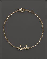 Lana Jewelry - 14k Yellow Gold Luck Bracelet - Lyst