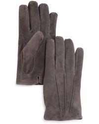 Bloomingdale's - Three-cord Suede Gloves - Lyst
