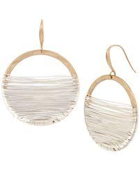 Robert Lee Morris - Two-tone Wire Wrap Circle Earrings - Lyst