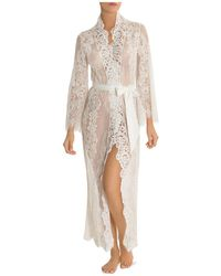 Jonquil - Long Lace Robe - Lyst