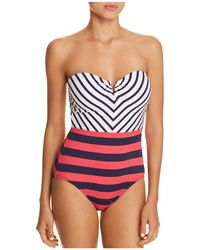 Tommy Bahama - Channel V-wire Bandeau One Piece Swimsuit - Lyst
