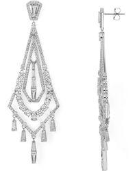 Nadri - Zelda Chandelier Drop Earrings - Lyst