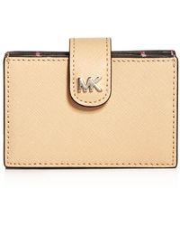 MICHAEL Michael Kors - Michael Kors Money Pieces Embossed Leather Card Case - Lyst