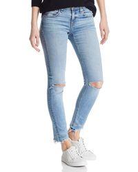 Rag & Bone - Distressed Skinny Ankle Jeans In Halsey W/ Holes - Lyst