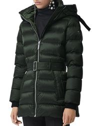9c0cc5ad3ef73 Lyst - Burberry Down-filled Puffer Jacket With Detachable Fur ...