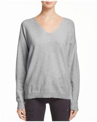 Aqua - Cashmere Lace Up Back Sweater - Lyst