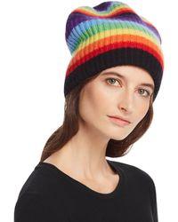 Madeleine Thompson - Rainbow-stripe Cashmere Hat - Lyst