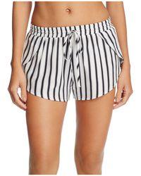 Tori Praver Swimwear - Deliah Stripe Cover-up Shorts - Lyst
