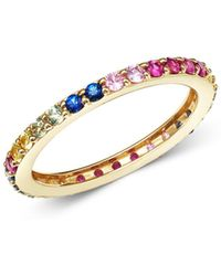 Bloomingdale's Rainbow Sapphire Band In 14k Yellow Gold - Metallic