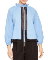 Sandro - Doval Lace-inset Top - Lyst