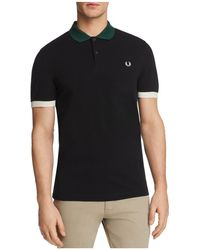 Fred Perry - Color-blocked Pique Short Sleeve Polo Shirt - Lyst