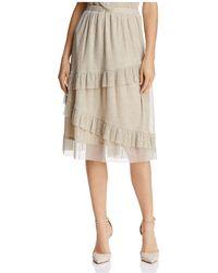 June & Hudson - Ruffled Metallic Skirt - Lyst