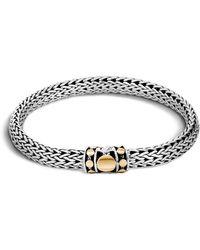 John Hardy - Sterling Silver & 18k Bonded Gold Dot Medium Chain Bracelet - Lyst