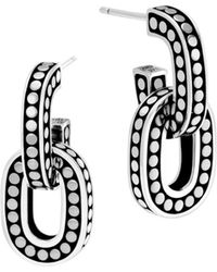 John Hardy - Sterling Silver Dot Link Earrings - Lyst