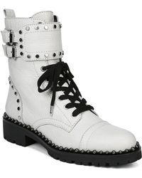 Sam Edelman - Women's Jennifer Studded Leather Combat Booties - Lyst