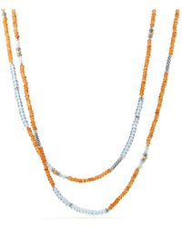 David Yurman - Blue Topaz & Amazonite With 18k Gold - Lyst