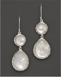 Ippolita - Sterling Silver Wonderland Teardrop Snowman Doublet Earrings In Mother-of-pearl - Lyst