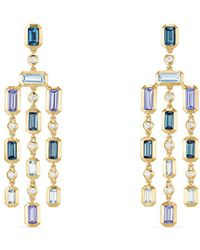 David Yurman - Novella Earrings With Diamonds - Lyst