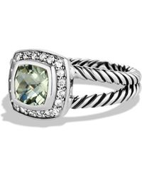 David Yurman - Petite Albion Ring With Prasiolite & Diamonds - Lyst