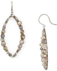 Dana Kellin - Open Oval Drop Earrings - Lyst