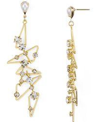R.j. Graziano - Studded Geometric Drop Earrings - Lyst