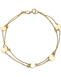 Moon & Meadow - Layered Disc & Bead Bracelet In 14k Yellow Gold - Lyst