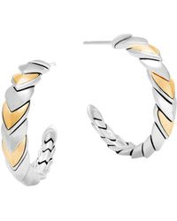 John Hardy - 18k Gold And Sterling Silver Legends Naga Hoop Earrings - Lyst