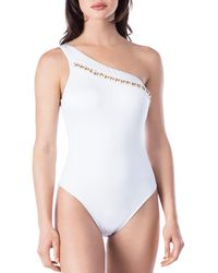 Kenneth Cole - One Shoulder Swimsuit - Lyst