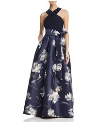 Eliza J - Printed Ball Gown - Lyst