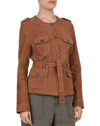 Gerard Darel Odelya Leather Safari Jacket - Brown