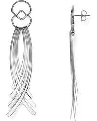 Bloomingdale's - Sterling Silver Curved Fringe Drop Earrings - Lyst