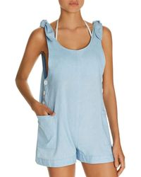 Dolce Vita - Chambray Romper Swim Cover-up - Lyst