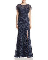 Decode 1.8 - Flutter-sleeve Lace Gown - Lyst