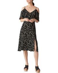 Whistles - Frill Cold Shoulder Dress - Lyst