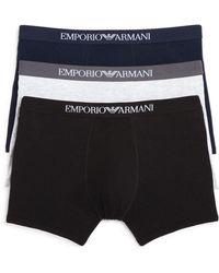 Armani - Emporio Pure Cotton Boxer Briefs - Pack Of 3 - Lyst
