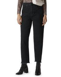 Whistles - High Rise Barrel Leg Jeans In Black - Lyst