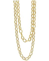 """Lagos - 18k Gold Necklace, 39"""" - Lyst"""