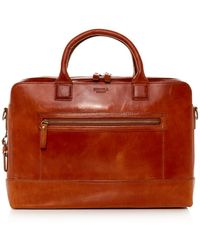 Shinola - Bedrock Leather Briefcase - Lyst