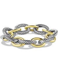 David Yurman - Oval Extra Large Link Bracelet With Gold - Lyst