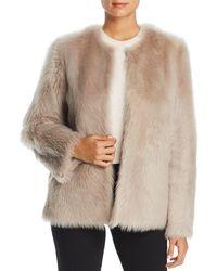 Maximilian - Reversible Lamb Shearling Short Jacket - Lyst