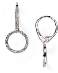 Nadri - Circle Drop Earrings - Lyst