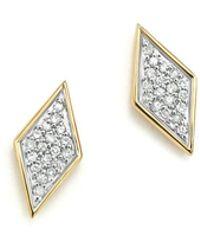 Adina Reyter | 14k Yellow Gold & Pavé Diamond Tiny Stud Earrings | Lyst