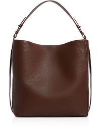 AllSaints - Vincent Medium Leather Tote - Lyst